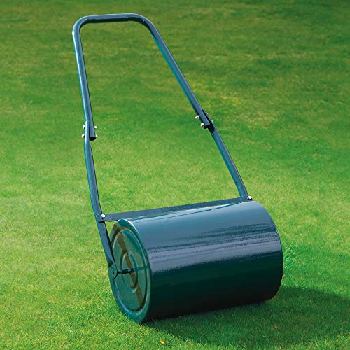 Not all rollers come huge and grandiose; there are some like the Garden Gear Garden Lawn Roller that is small but effective. Weighing in at an estimated 6kgs when empty, 30kg when filled, the roller is easy to assemble and get to work. To make sure that the roller serves you longer, galvanised steel was used. Galvanised steel is strong enough to take some impact and it keeps rust at bay making it an effective material.