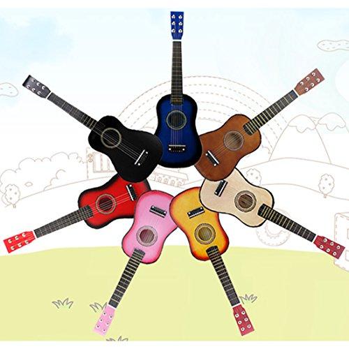 BOROK 6 Corde Chitarra Legno per Bambini Strumenti Giocattolo Educativo Chitarra Giocattolo Bambini