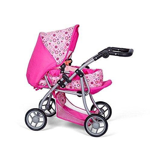 MINI MOMMY DISVALTOYS Carrozzine di bambola - Trasformabile in una sedia - Culla rimovibile -...