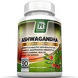 BRI Top Rated Ashwagandha - Pure Ashwagandha Root Powder - 90 Count 500mg Veggie Capsules By BRI Nutrition