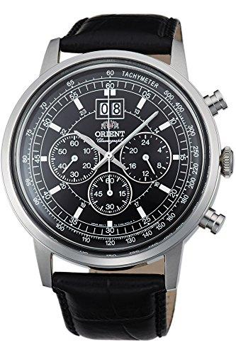 Orient Orologio Cronografo Quarzo Uomo con Cinturino in Pelle FTV02003B0