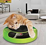 ASAB Pet Cat Kitten Catch The Mouse Plush Motion Chase Toy Claw Care Moving Play Scratching Pad Mat