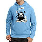 lepni.me Sudadera con capucha Halloween horror nights - The Death is playing on piano - cool scarry design (X-Large Azul Multicolor)
