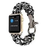 ouneed® per Apple Watch 42mm, nylon tessuto braccialetto di remplacment (J)