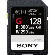 Sony SF-G UHS-II 128 GB 128GB SD UHS-II Clase 10 memoria flash - Tarjeta de memoria (128 GB, SD, Clase 10, UHS-II, 300 MB/s, Negro)