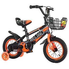 Bicicleta para niños 2-8 años Rueda de Choque Bicicleta para niño y niña con Flash silencioso Rueda de Entrenamiento 14/16/18 Pulgadas Bicicleta para niños con Freno