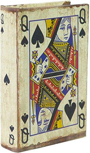 Porta Carte da Gioco - Scatola in Legno - Realizzata a Mano e rivestita in stoffa con effetto...