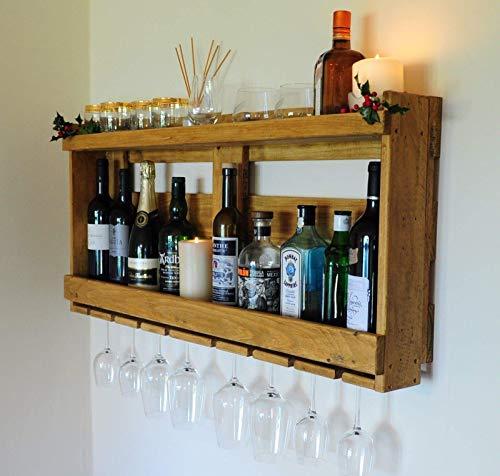 Rastrelliera portabottiglie per vino, whisky, gin e altre bevande, cantinetta a mensola per gin e...