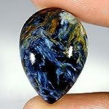 19.00CTS 100% Chatoyant naturale Golden Pietersite pera cabochon gemma sciolto