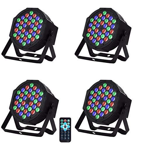LED PAR Licht 36W 36LEDs RGB 7 Beleuchtung 4 STÜCK Modi Disco Lichteffekte dj party Licht Bühnenbeleuchtung led scheinwerfer Fernbedienung DMX Steuerung Discolicht für DJ KTV Disco Party