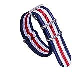 un pezzo cinturini per orologi stile NATO nylon Perlon 14 millimetri multicolore di lusso delle donne squisite strisce di tessuto
