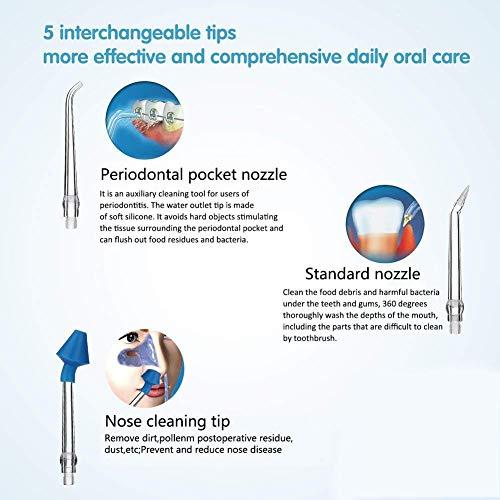 iBaste Irrigateur Dentaire Portable Nettoyeur de Dents électrique Fil d'eau d'irrigation Orale 28