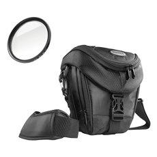Mantona Premium - Bolso para cámaras réflex con filtro UV Slim MC 58 mm, negro