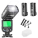 Neewer NW de 562N I Kit de luz de flash TTL Flash Speedlite para Cámaras DSLR de Nikon, Kit Incluye:: 1x nw562N Flash + 1x FC de 162.4GHz Wireless disparador (1* Transmisor + 1* Receptor) + 1x Microfibra Paño De Limpieza