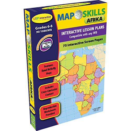 Lorenz Educational Press lep901086iwb-a1Map Skills Africa lavagna interattiva software