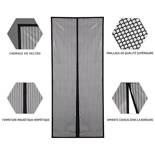 jerrybox moustiquaire sur mesure de porte magn tique 90cmx210cm parfait pour des ouvertures. Black Bedroom Furniture Sets. Home Design Ideas