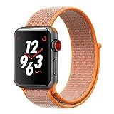 TiMOVO Cinturino per Apple Watch 42mm, Braccialetto Flessibile Ricambio in Nylin con Gancio Regolabile per Apple Watch 42mm Series 3 Series 2 Series 1, Arancione