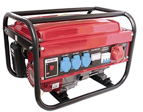Generador electrico gasolina 230/380V 5500w trifasico monofasico x3 deposito 15L