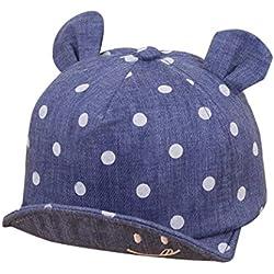 QinMM Sombrero de Punto Lindo de Las Niñas y Niños bebé, Gorra de Sol de Béisbol de Verano (Oscuro Azul)
