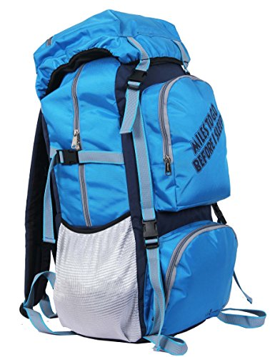 "POLE STAR "" ROCKY "" 60 Lt Blue Rucksack I Hiking backpack"