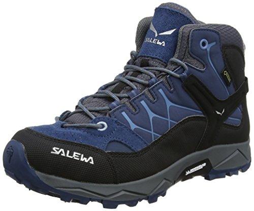 Salewa Jr Alp Trainer Mid Gtx, Unisex-Kinder Trekking- & Wanderstiefel, Blau...