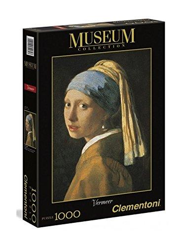 Clementoni 39282 - Puzzle Vermeer - La Ragazza con l'Orecchino di Perla, Collezione Museum, 1000...