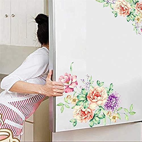 Fiori colorati bella peonia frigorifero guardaroba bagno decorazione bagno in pvcAdesivo murale...