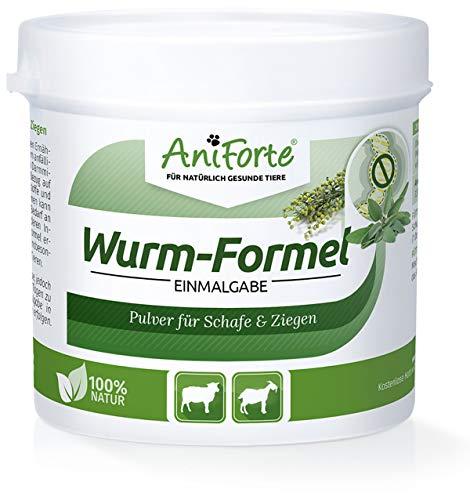 AniForte Formula di Vermi Monodose 100g per Pecore, Capre e Animali da Fattoria, Completamente Naturale, Gentile e liberatorio, Trattamento vermifugo, più Comodo delle compresse, Prevenzione