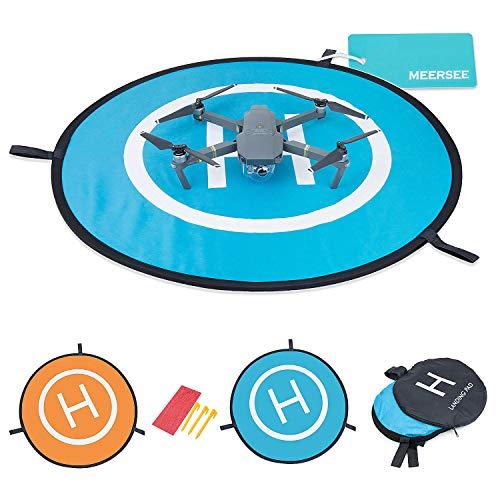 Landing Pad per Drone – Meersee 75cm Pad di Atterraggio per Drone RC e Quadcopter Impermeabile Base di Lancio per Elicotteri Portatile per DJI Mavic Pro, DJI Spark, DJI Phantom 4/4 Pro e altri