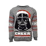STAR WARS Official Darth Vader Christmas Jumper/Ugly Sweater UK 2XL/US XL