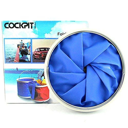 DYBOHF Cubo Plegable Cubeta de Agua portátil Multiuso - Apto para Acampar, Deportes al Aire Libre, Uso doméstico, Cubo de Agua para Lavado de Autos Capacidad - Ligero y fácil de Transportar (11L) 1