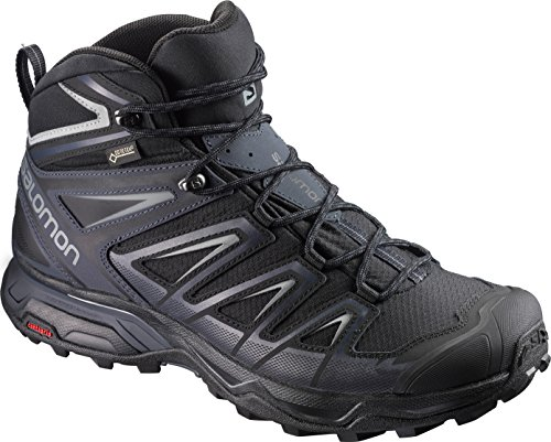 SALOMON X Ultra 3 Mid GTX BK Monument, Scarpe da Arrampicata Alta Uomo, Nero (Black/India Ink/Monu...