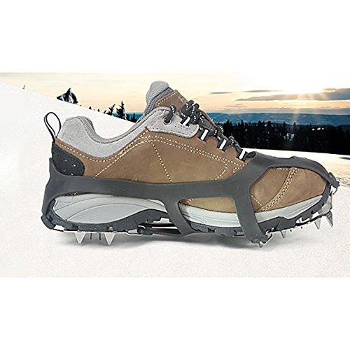 She-Lin Ice Grippers–Ligero 18Dientes Acero Inoxidable Spikes Crampones Antideslizante Seguro para Caminar Sobre Hielo y Nieve–Walk Tacos de tracción, 1Set 2