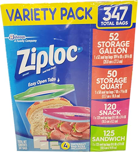 Ziploc Variety Pack 347 Total Bags by Ziploc