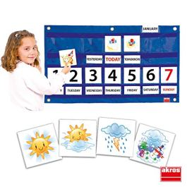 Akros 39000C Calendario settimanale Giochi di apprendimento
