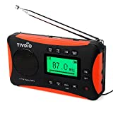 Tivdio V116 Portable FM MW SW Radio DSP Signal Processing MP3 Player Sleep Timer Alarm Clock with Rechargeable Battery