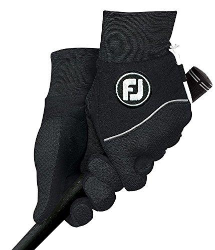 Footjoy Wintersof - Guanti da uomo per giocare a golf, coppia, Black, S