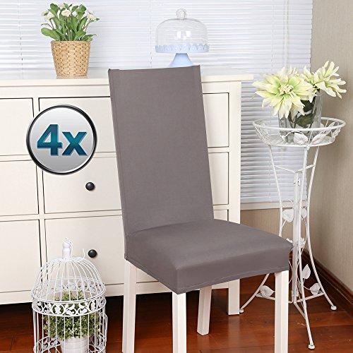 coprisedie con schienale 4 pezzi Elasticizzato Copertura della sedia bi-elastico per una misura...