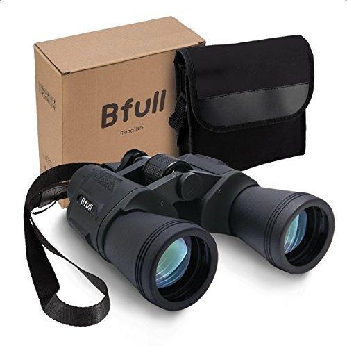 Prismáticos Compacto, bfull potente resistente al agua prismáticos 12 x 50 prismáticos telescopio resistente portátil plegable para aves Kids niños regalo deporte juego conciertos (negro)