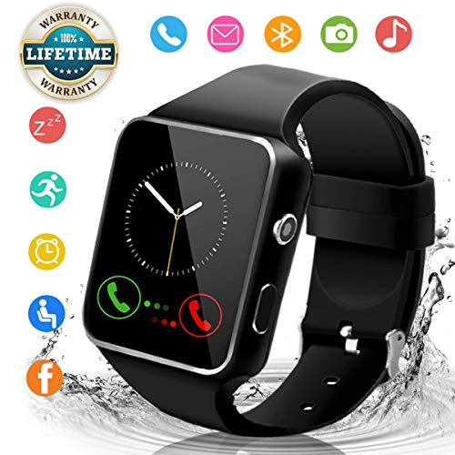 Bluetooth Smartwatch con Camera, Smart Watch Phone Touchscreen,Smart Orologio,Impermeabile Orologio...