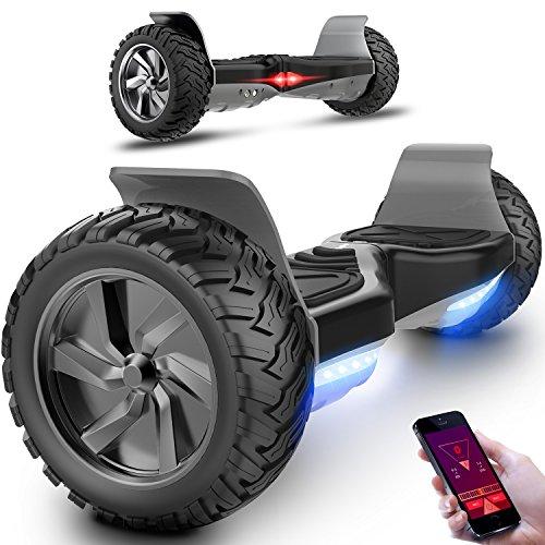 Hover board elettrico con bluetooth scooter con ruote 8.5 inch (nero)