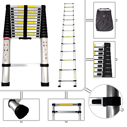 We settled on the Todeco - Telescopic ladder, Foldable Ladder for this purpose. Whilst this one doesn't fold into an A-frame ladder, it offers a great extendable height up to 3.8m, ideal for both indoor and outdoor use.