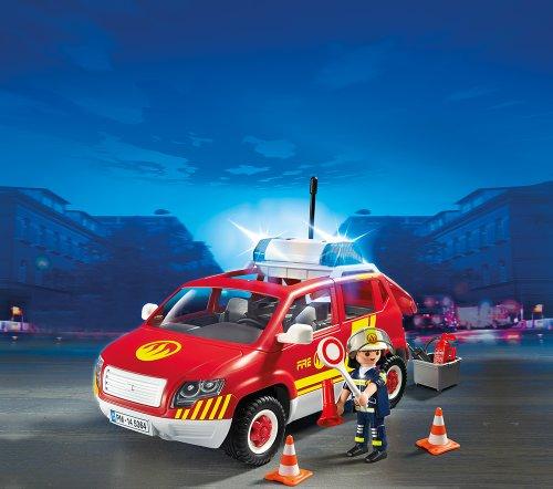 PLAYMOBIL 5364 – Brandmeisterfahrzeug mit Licht und Sound - 2