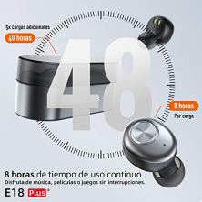 Auriculares-Bluetooth-ENACFIRE-E18-Plus-Auriculares-inalmbricos-Mini-Twins-APTX-HD-In-Ear-Sport-Bluetooth-50-con-Caja-de-Carga-inalmbrica-Porttil-Y-Micrfono-Integrado-48h-reproduccin-IPX8