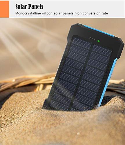 Grosera Solar Power Bank 20000mAh Double USB Solar Charger External Battery Portable Charger Bateria Externa Pack for Smart Phone