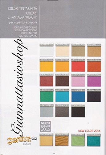 Genius 4D - Biancaluna - Coppia Cuscini Singoli Maxi per Cuscini da 70 a 95cm - Colori Tinta Unita Color da comunicare