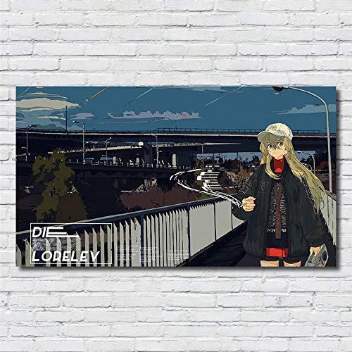 XWArtpic Decorazioni per la casa Classico Cartone Animato Anime Moda Cool Girl Wall Art Poster...