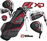 Wilson Mens New RIGHT HAND XD Profile Golf Set Steel Shafted Irons & Graphite Shafted Woods FREE Umbrella & Society Tee Pack worth £24.00