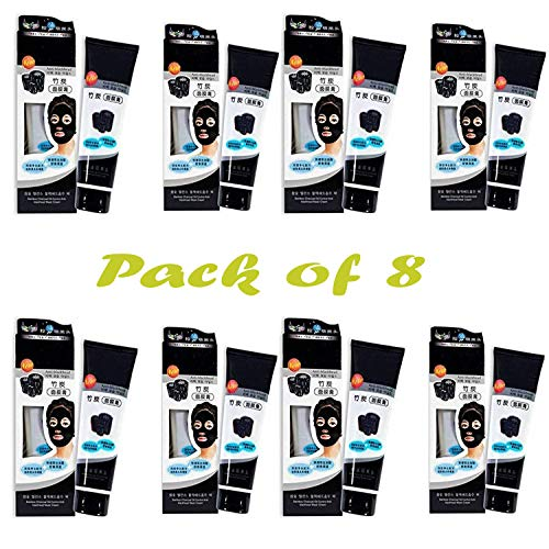 Sunshine VIRTUAL WORLD Charcoal Oil Control Anti-Acne Deep Cleansing Blackhead Remover, Peel Off Mask for man & Woman.(Pack of 8)