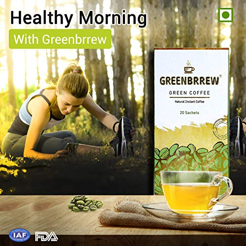 Greenbrrew Instant Green Coffee for Weight Management - 20 Sachets, Each 3g (Easy to use) 7